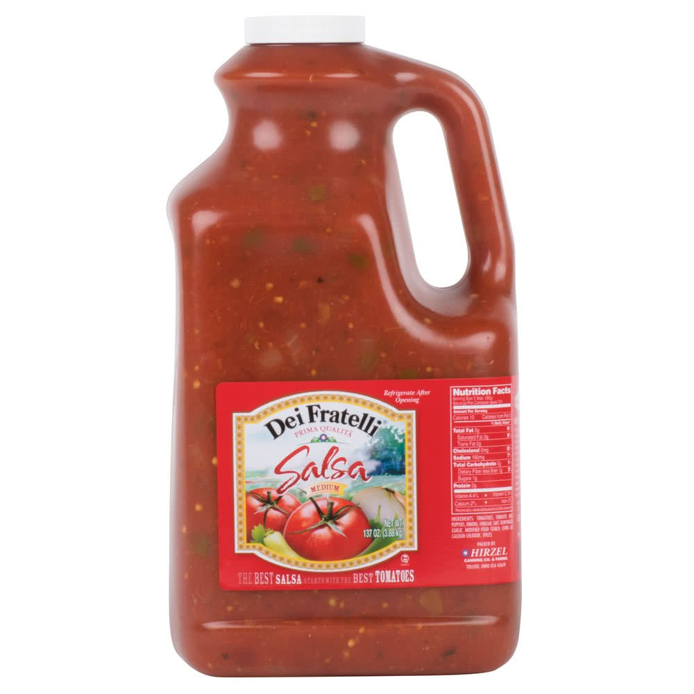 Dei Fratelli Medium Salsa 1 Gallon Jug - 4/Case By TableTop King by TableTop King (Image #2)