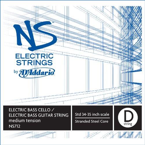 D'Addario NS Electric Bass/Cello Single D String, 4/4 Scale, Medium Tension