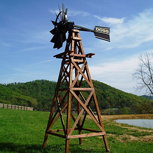 Deluxe 4 Legged 16 ft. Wooden Underwater Aeration Windmill With Customized Head