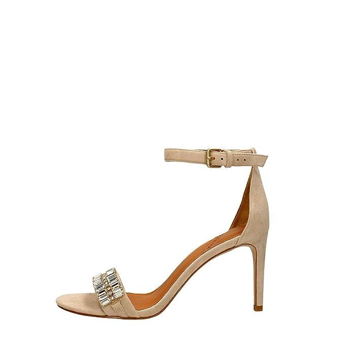 What For 166 Sandalo Alto Donna Camoscio Beige Beige 37 u9oRQAhrB