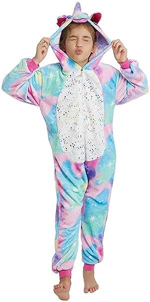 Niños Unicornio Traje Halloween Navidad Cosplay Disfraz Pijamas Animal Ropa de Dormir