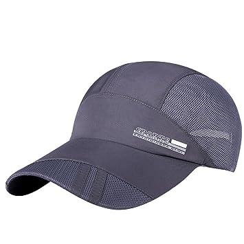 Gorras béisbol ❤️Amlaiworld Sombrero de malla para adultos Unisex hombre mujer Sombrero para sol plegable ...