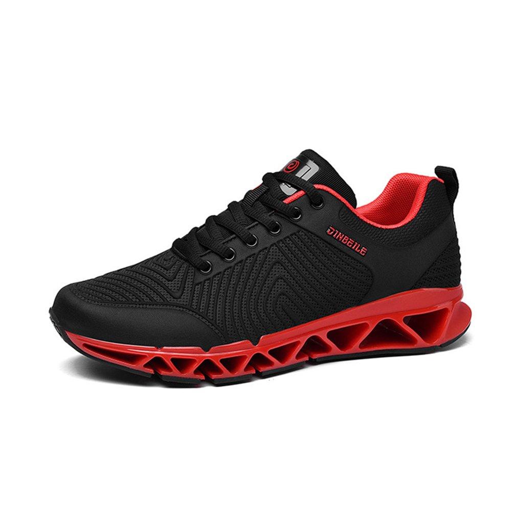 Zapatos para Hombres Stretch Satin Tulle Spring Fall Comfort Zapatos Atléticos Zapatillas para Correr Dividir Conjunta para Atlético Casual Al Aire Libre Negro Rojo 41 EU|B