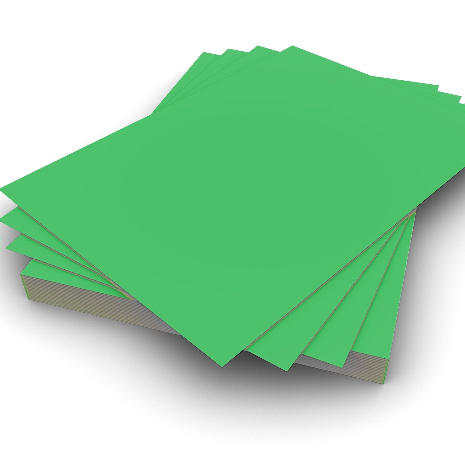 A4 80gsm Plain Green Paper Pack of 25 Perfect for Printing on and general office use by Party Decor
