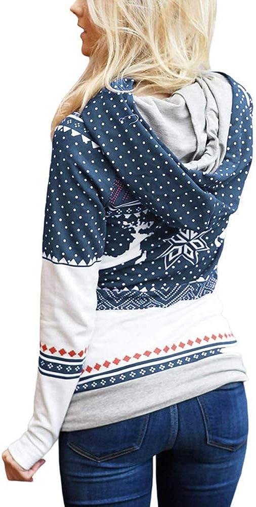 Cheamlion Women Girls Family Matching Christmas Hooded Sweatshirts Hoodie