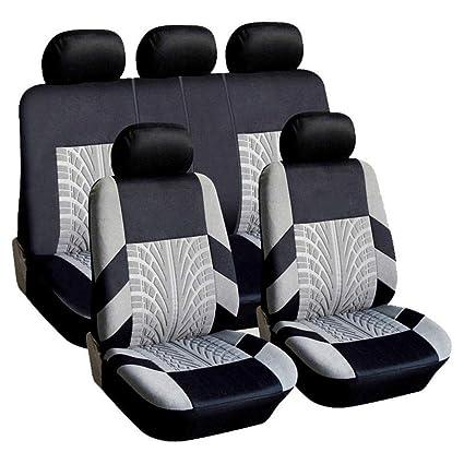 2 2007-2016 Grey//Black Universal Car Sports Seat Covers Nissan Qashqai//Qashqai