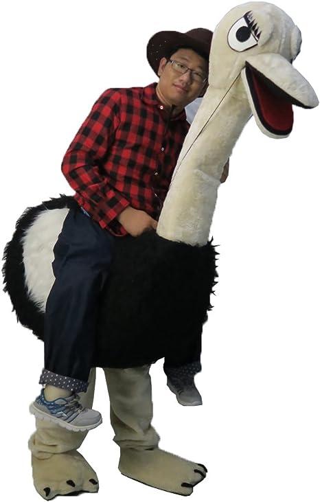 Un hombre montando un avestruz – Mascota Disfraz Real imagen 15 ...