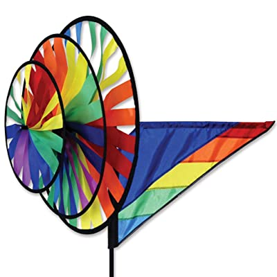 Premier Kites Triple Spinner - Rainbow : Wind Spinners : Garden & Outdoor