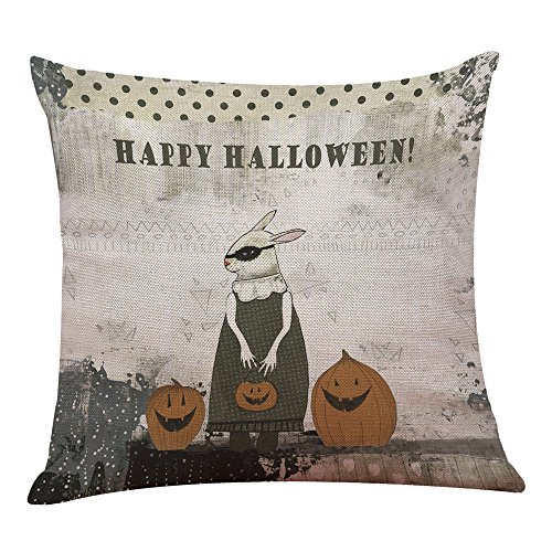 UONQD Halloween Pillow Box Linen Sofa Funny Ghost Pad Cushions Home Decoration(45cm45cm/18