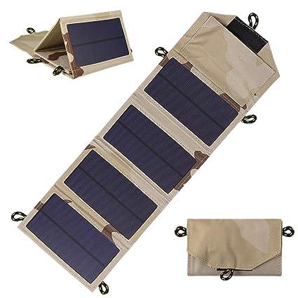 Shumo 7W Cargador Solar Plegable Al Aire Libre Panel Solar ...
