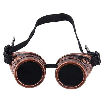 Professionelle Cyber Goggles Steampunk Gl/äser Vintage Schwei/ßen Punk Gothic Victorian Outdoor Sports Fahrrad Sonnenbrille