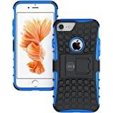 iPhone 8 Case, iPhone 7 Case Protective Cases (iPhone7 & iPhone8) Tough Rugged Shockproof Armorbox Dual Layer Hybrid Hard Plus Soft Slim Armor Phone Cover Case by Cable and Case - Blue Armor Case