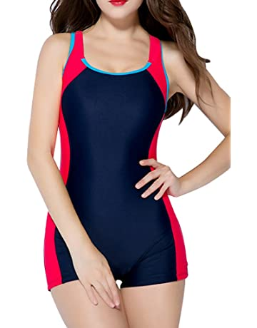 beautyin Women s One Piece Swimsuits Boyleg Sports Swimwear 9e55c1798