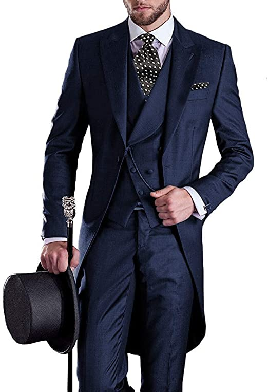 Amazon.com: jydress para hombre traje esmoquin de cola ...