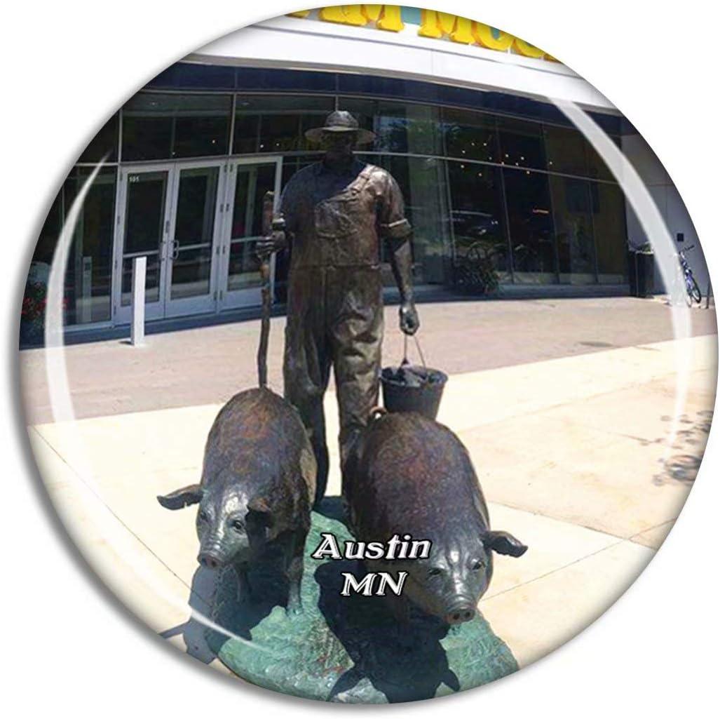 Austin Spam Museum Minnesota USA Magnet Travel Souvenir 3D Crystal Glass Collection Gift Refrigerator Sticker