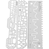 NC Régua Auxiliar Da Linha Scriber para 1: 144 1: 100 Kit de Modelo de Ferramenta Básica de Artesanato - B, Tamanho real