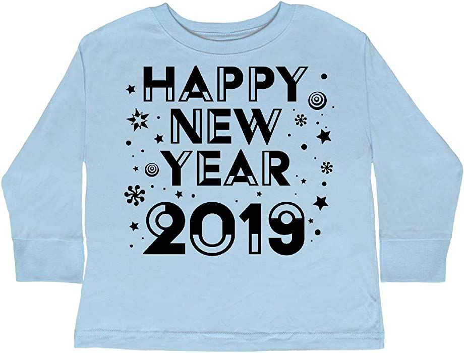 d2946f0b4 inktastic - Happy New Year 2019 Toddler Long Sleeve T-Shirt 2T Light Blue  33441