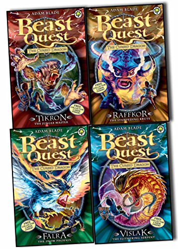 Beast Quest Series 14 Collection - 4 Books Collection Pack Set (Beast Quest: 79: Raffkor the Stampeding Brute, Beast Quest: 80: Vislak the Slithering Serpent, Beast Quest: 81: Tikron the Jungle Master, Beast Quest: 82: Falra the Snow Phoenix) (Beast Quest 14)