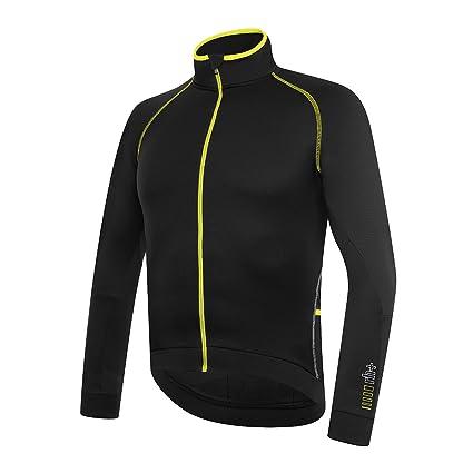 RH + Zero LS Jersey blafluoyel L, Camisetas (Ciclismo), Black – para