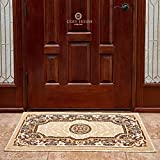 Cosy House Traditional Door Mat for Indoors & Out | Plush High Pile Olefin Polypropylene | Resists Stains, Soil & Fading | Power Loomed in Turkey, 2' x 3' 4