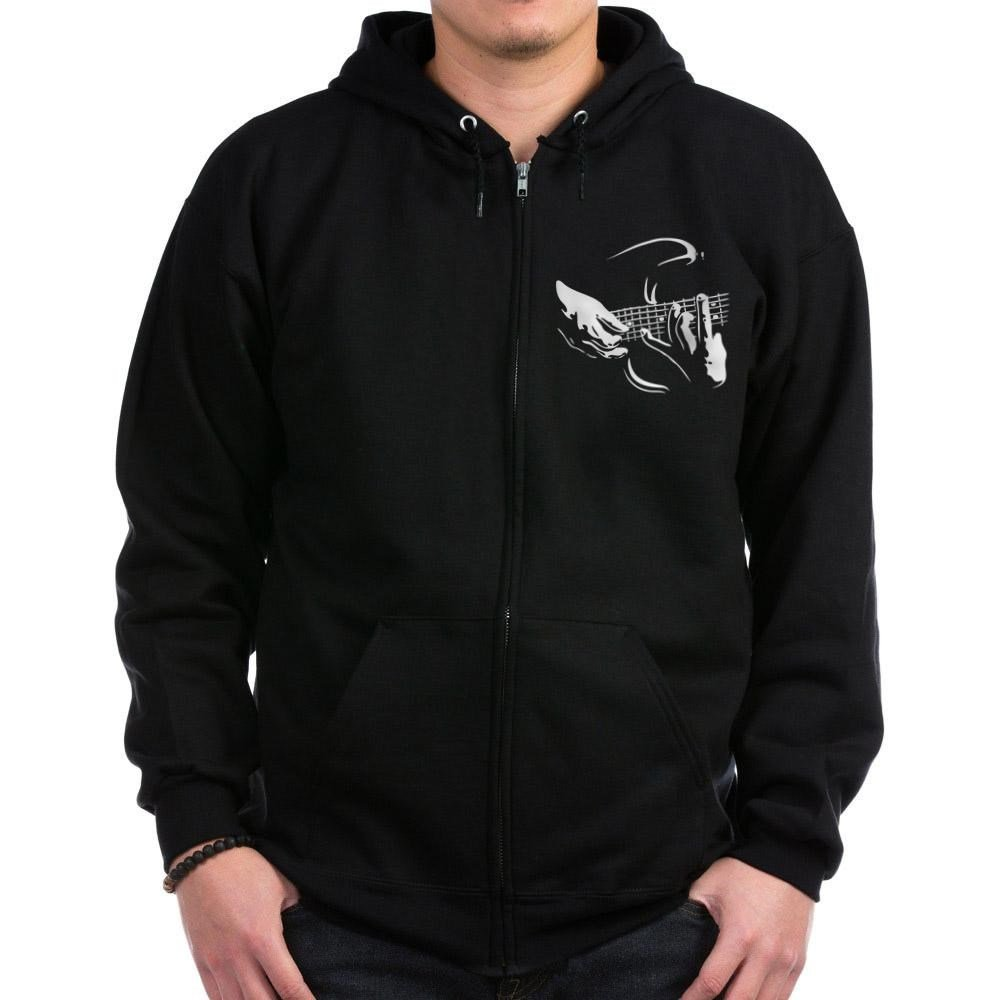CafePress - Guitar Hands Zip Hoodie (dark) - Zip Hoodie, Classic Hooded Sweatshirt with Metal Zipper Black by CafePress
