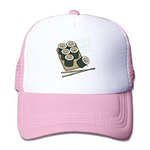 Amazon.com  Novelty Roll Sushi Mesh for Pink Streetwear Caps Dad ... d794e7cfc7f