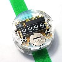 KKmoon Orologio con Display a LED a Chip Singolo Orologio Kit Orologio Elettronico Set di Orologio Elettronico Orologio con Cinturino Verde