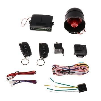 Sharplace Alarmas kit de Antirobo co 2 Control Remoto Cuerno ...