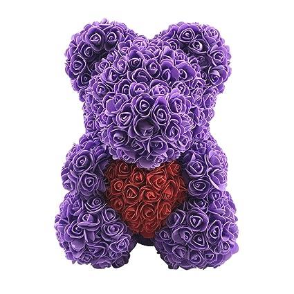 Zconmotarich Rose Bear Birthday Gift For Girlfriend Best Friend Valentines Day Wedding Mothers Romantic
