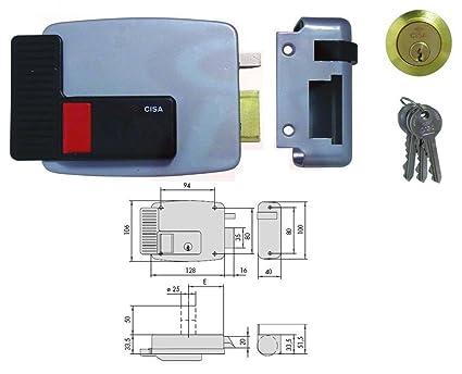 Cerradura Eléctrica de Aplicar Cisa Art. 11670 Medida Hacia Sx 60 mm