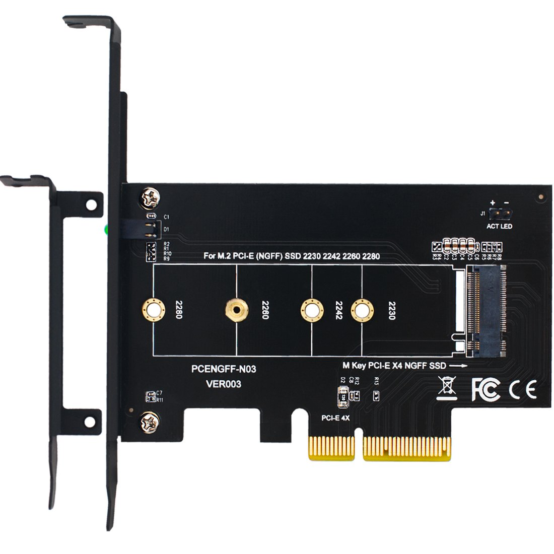 Mailiya M.2 PCIe to PCIe 3.0 x4 Adapter - Support M.2 PCIe 2280, 2260, 2242, 2230