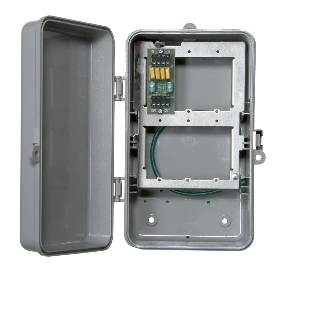 Intermatic IG2T3R Two Line Outdoor Phone Protector in NEMA 3R Plastic Enclosure