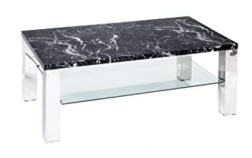 Outdoor Küche Edelstahl Optik : Concept glas couchtisch sofatisch marmor optik edelstahl