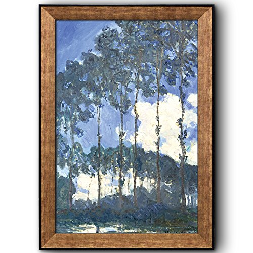Poplars on the Banks of the Epte by Claude Monet Framed Art