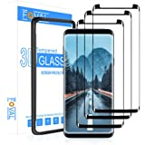 (3 Pack) Tempered Glass Screen Protector for Samsung Galaxy S9 Plus FOVAL 3D Curved Dot Matrix with Alignment Tool (Case Frie
