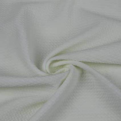 db2a12ba947 Image Unavailable. Image not available for. Color: OFF WHITE Bullet Poly  Spandex Jersey Knit Fabric