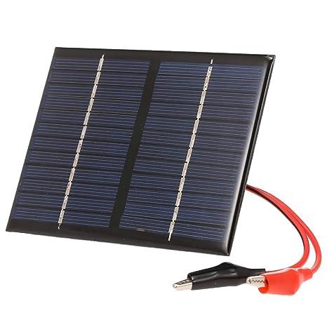 Decdeal 1.5W/12V Cargador Solar con Compacto Panel Solar ...