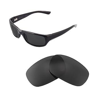 aea0f3a17569 Walleva Replacement Lenses for Maui Jim Stingray Sunglasses - Multiple  Options Available (Black - Polarized