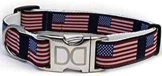 product image for Stars n Stripes Custom Dog Collar (Optional Matching Leash Available) XL