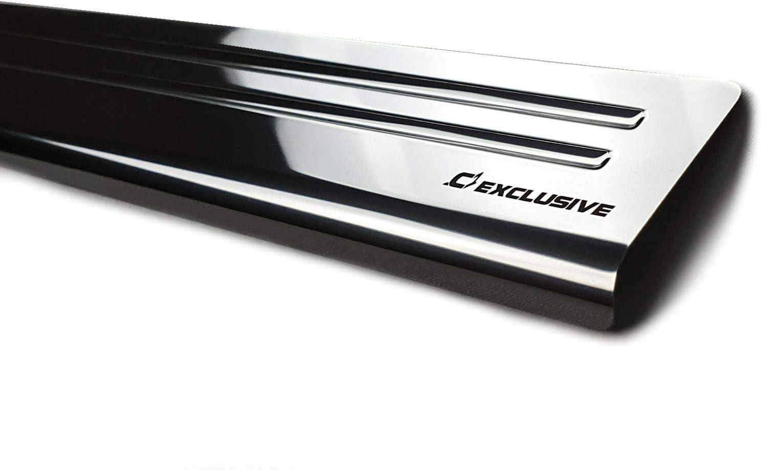 -2 LINE Croni Edelstahl Einstiegleisten kompatibel mit Skoda Kamiq SUV 5 2019-