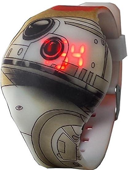 Star Wars BB-8 de la Kid luz Digital tiempo de reloj swj4002: Amazon.es: Relojes