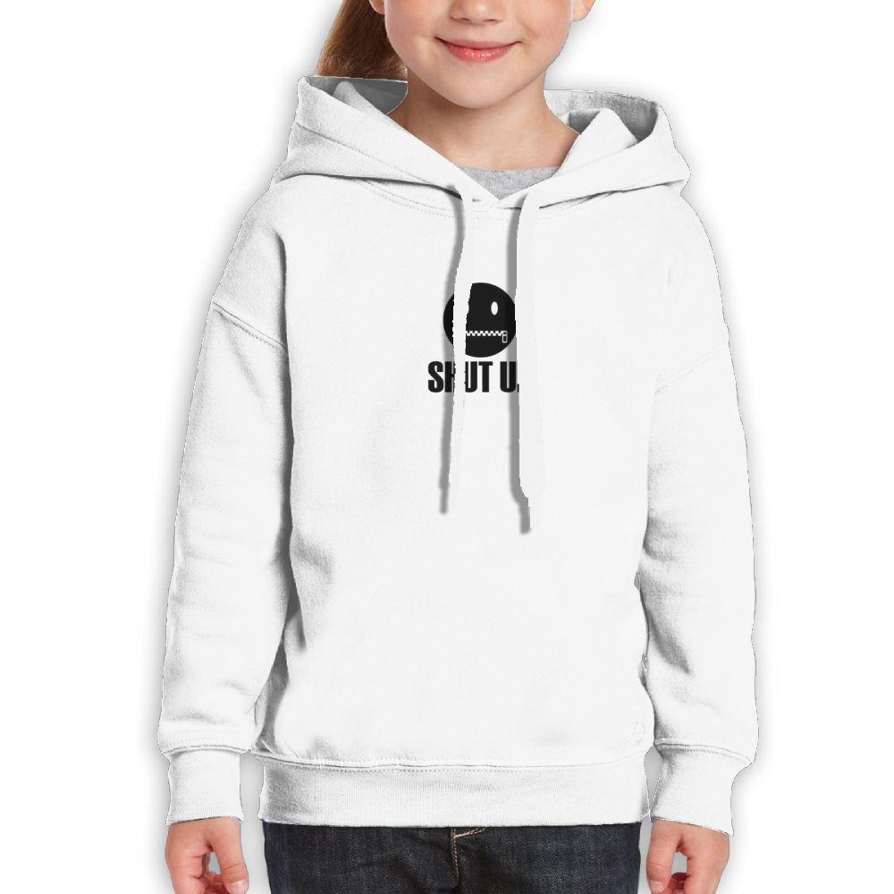 SmallHan Teen Zip Your Zip File Funny Walk White Hoodies
