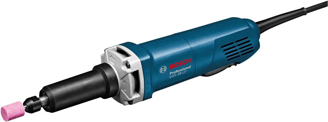 Bosch Professional GGS 28 LP - Amoladora recta (650 W, 30000 rpm, pinza Ø maxi. 8 mm, interruptor hombre muerto, en caja)
