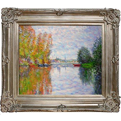 overstockArt la, diseño de otoño en la Seine en Argenteuil por Monet Arte con Renacimiento Marco de champaña
