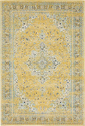 Unique Loom Tradition Collection Classic Southwestern Yellow Area Rug (4' 0 x 6' -