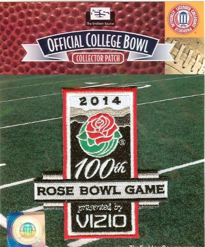 2014 Vizio Rose Bowl Game in Pasadena Jersey Patch 100th Anniversary (Stanford vs. Michigan (Pasadena Collection)