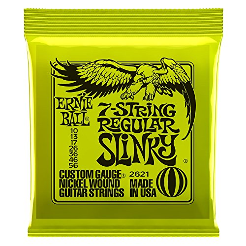 - Ernie Ball 7-String Regular Slinky Nickel Wound Set, .010 - .056