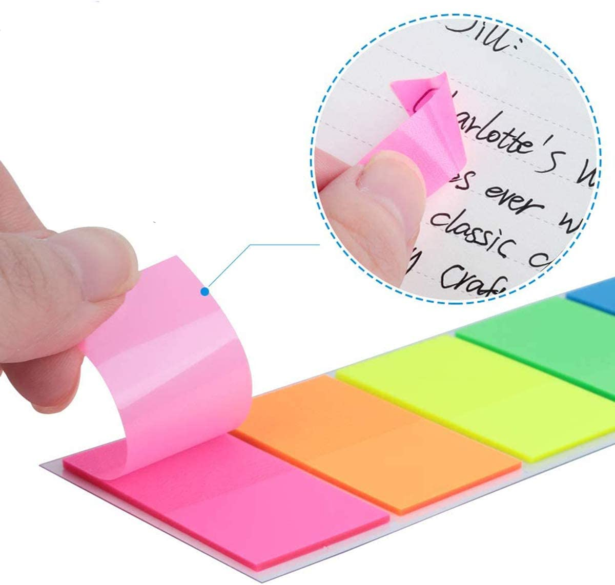 Dancepandas Marqueur de Page 2200PCS Marque-pages Adh/ésifs Color/ées Onglets Autocollants Index Tabs pour /Étiquettes Onglets S/éparateur Guides dindex 7 couleurs