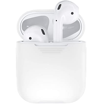 competitive price 8321e cb6a6 PodSkinz AirPods Case Protective Silicone Cover and Skin Compatible with  Apple AirPods 1 & AirPods 2 [Front LED Not Visible] (Clear)