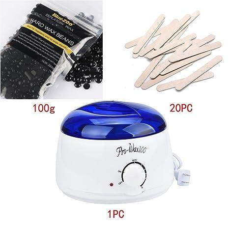 yiwula Depilación Limpieza de puf de cera caliente depilatoria calentador calentador Pot Set